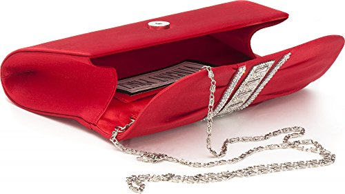 VINCENT PEREZ - Cartera de mano de Satén para mujer Rojo - rojo