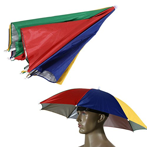Watermelon Peel : Portable Outdoor Sports Sun Shade Umbrella Hat Cap Folding