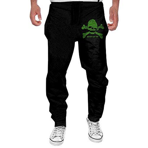 PNORG Men's Goonies Never Say Die Running Trousers Black M