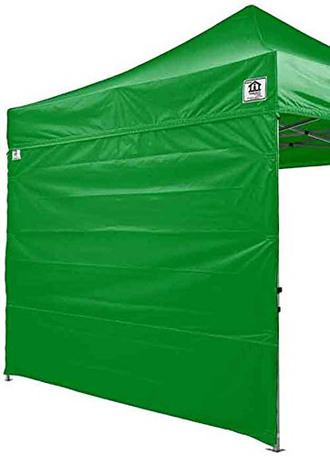 Price comparison product image Impact Canopy 10x10 EZ Pop Up Canopy Tent Commmercial Grade with Matching Sidewalls Roller Bag and WHITE Screen Walls (Kelly Green)