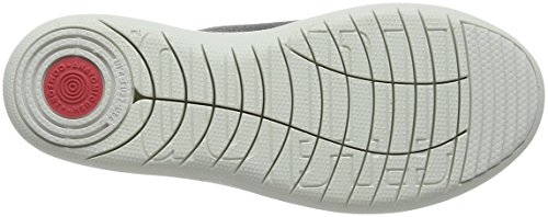 FitFlop F-Sporty Uberknit Sneakers Grey (Charcoal/Metallic Pewter 551)