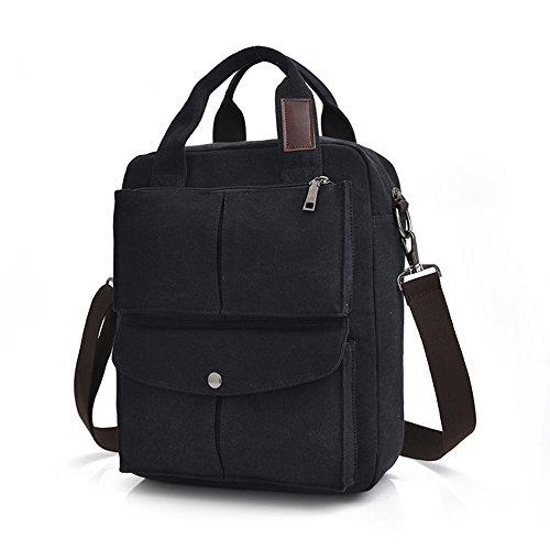 MiCoolker Leisure Crossbody Tote Bag College Students Shoulder Bag Messenger Purse Travel Handbag Black from MiCoolker