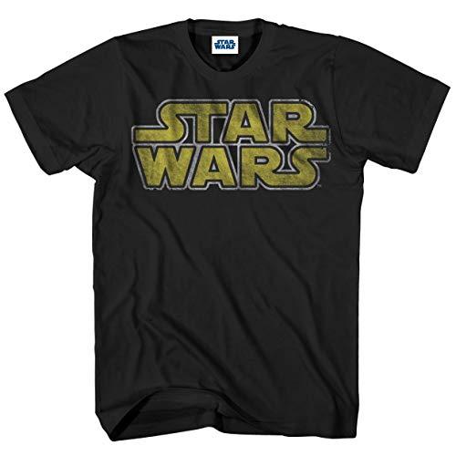 Simple Man T-shirt - Star Wars Men's Classic Vintage Simple Logo T-Shirt, Black, Small
