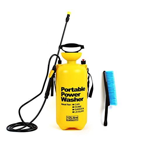 Femor 8L/10L/12L Portable Pressure Washer Sprayer Jet with Wash Brush and Lance for Car Trucks Vans (12L)