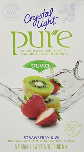 Crystal Light On The Go Pure Fitness Strawberry Kiwi, 7-Count Boxes (Pack of 4) (Pure Strawberry)