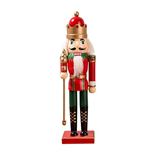 Singa-z Wooden Nutcracker 38CM Soldier Puppet Decorative Pendant Figurines Ornaments Puppets Figures Dolls Toy Home Decoration (Toy Soldiers Christmas)