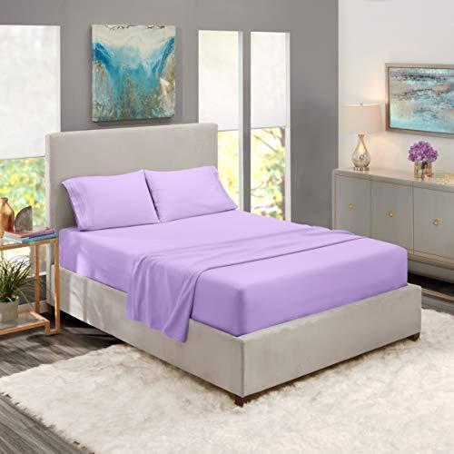 King Sheets - Bed Sheets King Size - Deep Pocket Hotel Sheets - Cool Sheets - Luxury 1800 Sheets Hotel Bedding Microfiber Sheets - Soft Sheets - King - Lavender