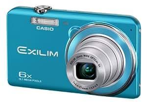 """Casio Exilim EX-ZS20 - Cámara compacta de 16.1 Mp (pantalla de 2.7"""", zoom óptico 6x) color azul"""