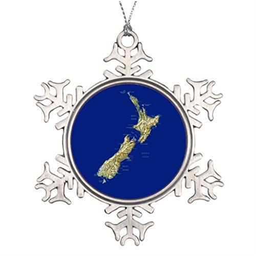 Jared Ideas for Decorating Christmas Trees New Zealand Souvenir Keepsake Classic Christmas Snowflake Ornaments BH 434989