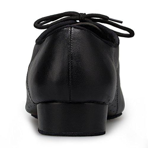 Shoes US Leather Up Men's 10 Hot Simple Lace Black Shoes Dance Wedding M Miyoopark d8qOIO