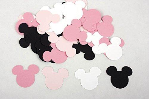 amazon com 100 black pink white minnie mouse confetti paper