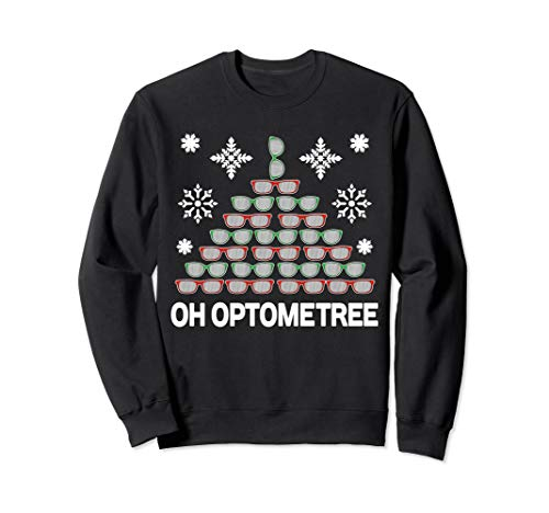 Optometrist Christmas Tree Optometree Sweatshirt Optician