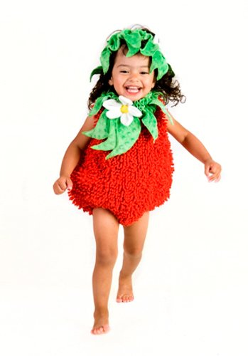 Princess Paradise Baby's Suzie Strawberry, Red, 6 to 12 (Anne Geddes Halloween Costumes)