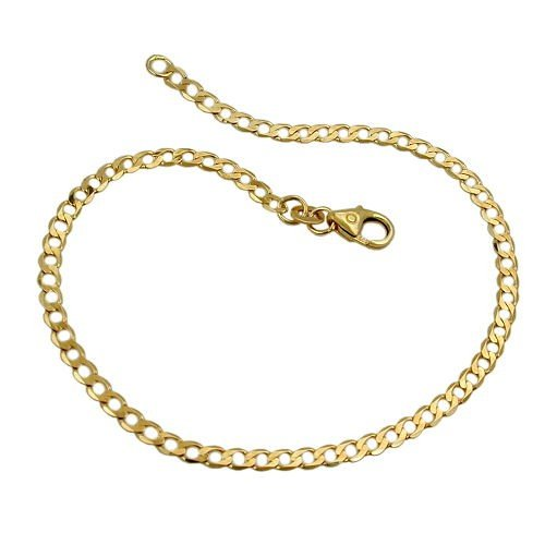 2,6mm loin-Bracelet Gourmette Bracelet Chaîne en or jaune 58519cm Bracelet Bijoux Femme
