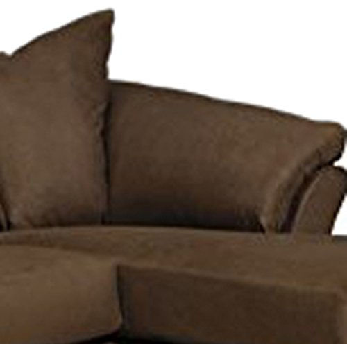 Cheap flash furniture signature design by ashley darcy for Ashley microfiber sectional with chaise