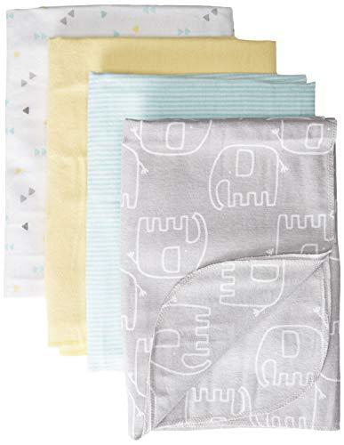 GERBER Baby 4-Pack Flannel Receiving Blanket