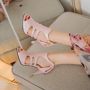 Talones de las mujeres Primavera Verano Otoño Otro de cuero oficina y carrera del partido y vestido de noche del tacón de aguja Hebilla Negro Blanco Rosa Rojo Pink