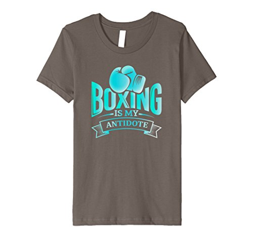 Kids Boxing Is My Antidote: Boxers Ring Funny Athletic T-Shirt 4 Asphalt