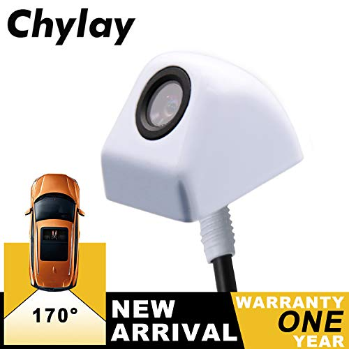 (Chylay Front/Side/Rear View Camera, IP68K Waterproof HD Night Vision Rear View Camera for Cars Pickup Trucks SUVs 170 Degree Backup Parking View Camera White)