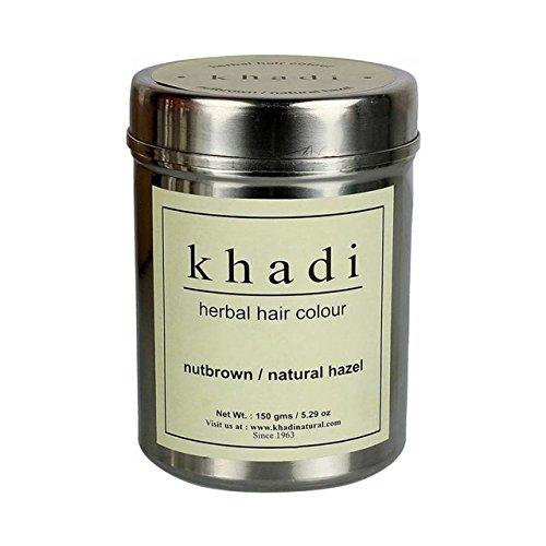 Khadi Herbal Nut Brown Henna- Natural Hazel - 150 ml (Pack of 2) by KHADI
