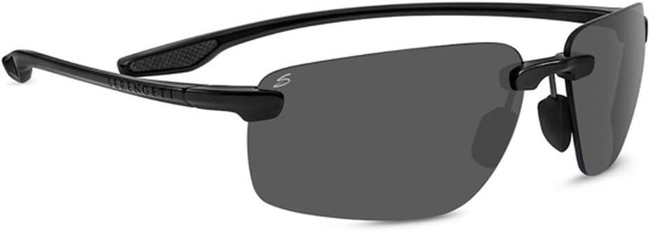 Serengeti Erice Glasses, Shiny Black