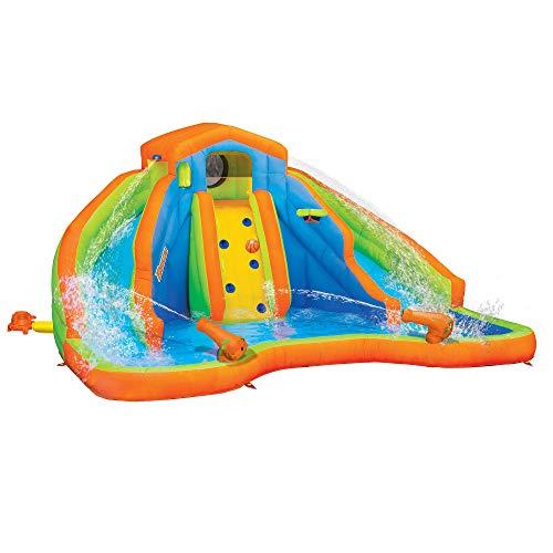 BANZAI 90369 Adventure Club Water Park Inflatable 2 Lane Water Slide Splash ()