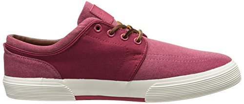 Polo Ralph Lauren Hombres Faxon Low Pumice Canvas Sneaker Red
