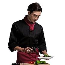 XINFU Chef Jacket Men Long Sleeve Hotel Workwear Restaurant Chef Coat Uniform Summer