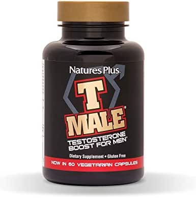 NaturesPlus T Male - 60 Vegetarian Capsules - Natural Testosterone Boost For Men - Promotes Muscle Gain, Stamina & Sexual Health - Mood Enhancer - Gluten-Free - 30 Total Servings