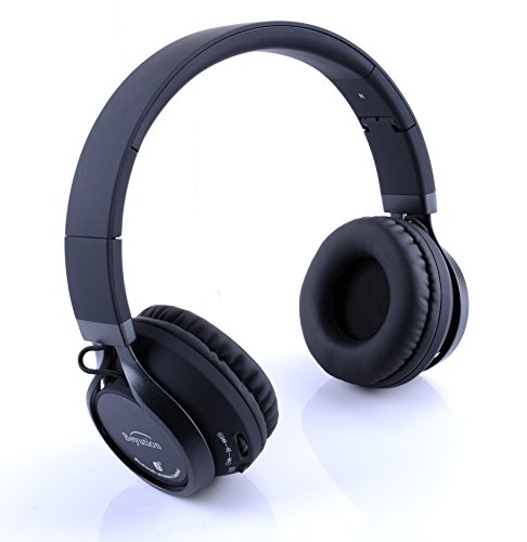 new bluetooth v4 1 headphones wireless over ear hifi stereo built in mic phone with. Black Bedroom Furniture Sets. Home Design Ideas