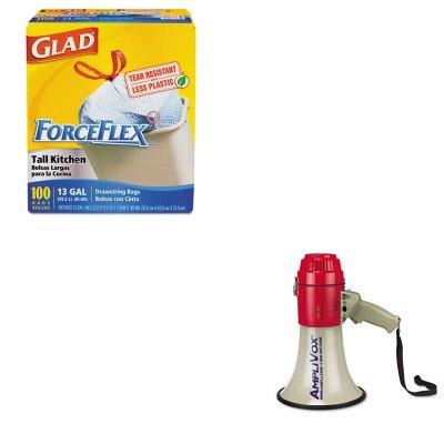 KITAPLS601COX70427 - Value Kit - Amplivox MityMeg Piezo Dynamic Megaphone (APLS601) and Glad ForceFlex Tall-Kitchen Drawstring Bags (COX70427)