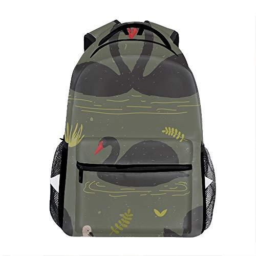 Black Swans And Brood Backpack For School Shoulder Daypack Handbag