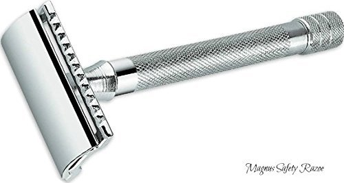 Elkaline Double Edge Razor Heavy Duty Safety Razor Long Handled - 2 Free Single Blade Razor Blades - The Best Quality Shaving Razors For Men and Women