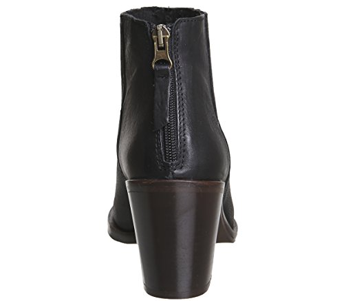 Black Zip Office Western Back Amalfi Boots Leather q6X8XwE