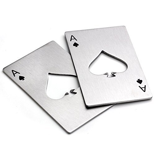 Bottle Opener-Stainless Steel Credit Card Size Casino Bottle Opener for Your Wallet-2 pcs