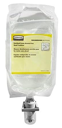 Rubbermaid Commercial FG750593 AutoFoam Hand Sanitizer Refill Alcohol-Free,37.2 Fl OZ