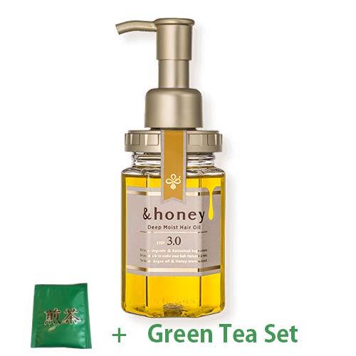 &honey Deep Moist Hair Oil Step3.0 (Moist Shine) 100ml - Damask Rose Honey Sent (Green Tea Set)