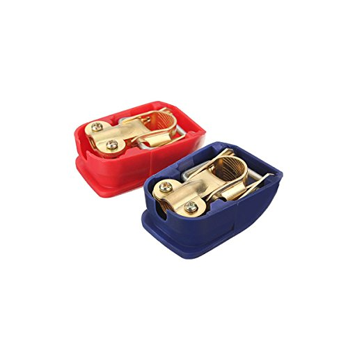 AUDEW Battery Terminals Connector Clamps Quick Release Lift Off Positive & Negative (Car Battery Positive Cover compare prices)
