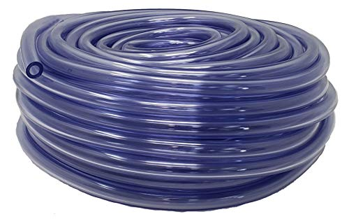 5/16-Inch ID 9/16-Inch OD Tubing, 100 FT, CO² Gas Hose for Homebrewing, Beer Line, Kegerator, Draft Systems Air Hose, Crystal Clear Vinyl Tubing - Made in USA