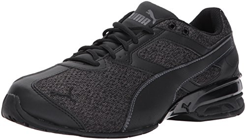 PUMA Men's Tazon 6 Knit Sneaker, Black-Asphalt,10.5 M (Suede Mens Saddle)