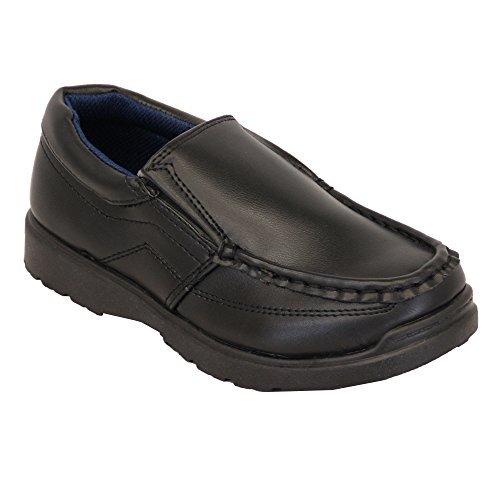 Niño Escuela Zapatos Negros los niños pequeños Mocasines de Vestir Elegante Boda Casual Nuevo: Amazon.es: Zapatos y complementos