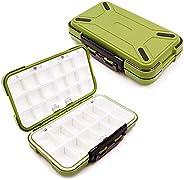 YUKI Fishing Lure Boxes, Bait Storage Case Fishing Tackle Storage Trays Accessory Boxes Thicker Plastic Hooks