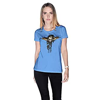 Creo Pirates Of The Desert Bikers T-Shirt For Women - M, Blue