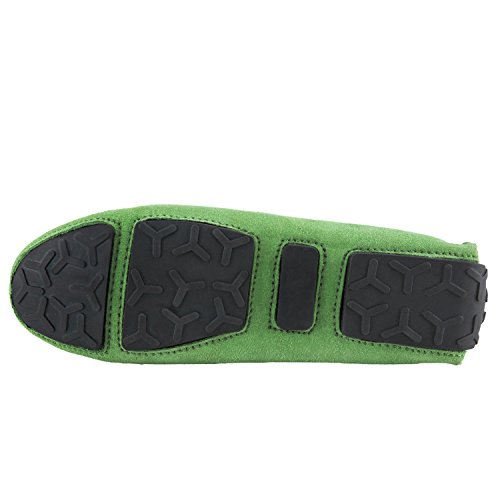 casual loafers Shenduo Donna di Mocassini scamosciata Donna Verde pelle Scarpe D9123 scarpe 0Z0qrz