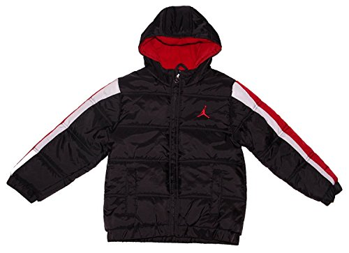 Jordan Boys Puffer Bubble Jacket Black/Red (Size Medium) by NIKE
