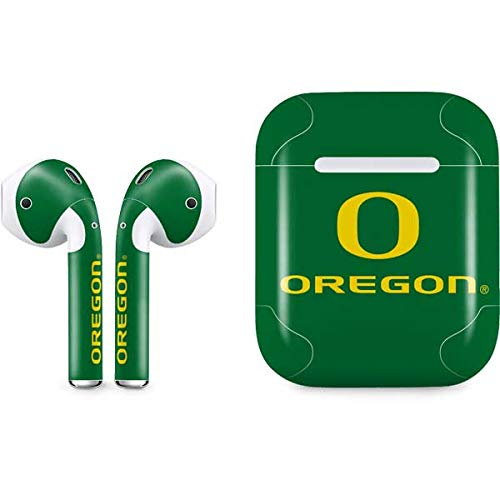 Skinit University of Oregon Apple AirPods Skin - Officially Licensed College Audio Sticker - Thin, Case Decal Protective Wrap for Apple AirPods Gen 1