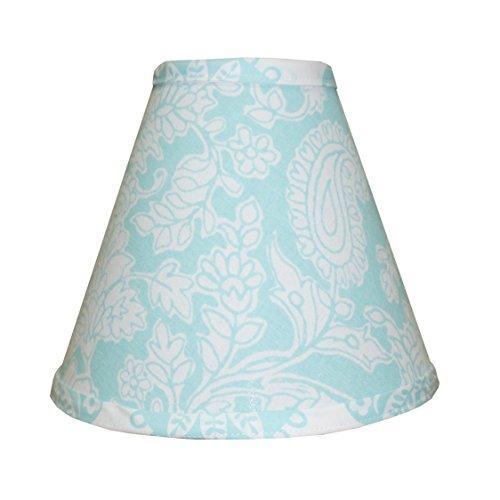 Cotton tale designs Floral Paisley Lamp Shade, Sweet & Simple Aqua Blue ()
