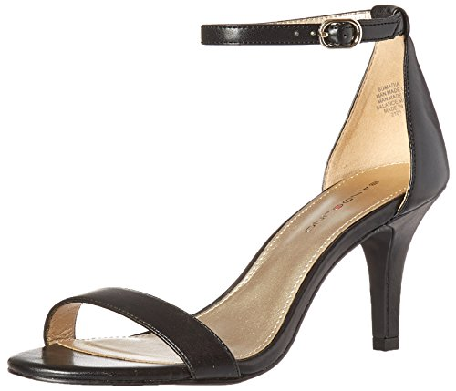 Bandolino Women's Madia Dress Sandal, Black Leather, 7.5 M US (Leather Heels Bandolino)