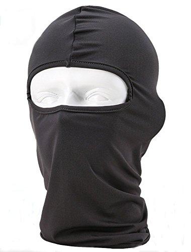 Lycra Fabrics Ski Face Mask Motorcycle Cycling Bike Bandana Hiking Skateboard Balaclava (deep grey)