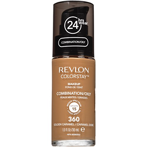 Revlon ColorStay Liquid Foundation For Combination/oily Skin, Golden Caramel, 1 Fl Oz